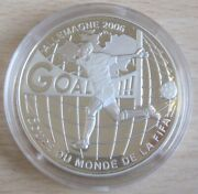 Dr Congo 10 Francs 2004 Football World Cup In Germany Silver