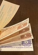 Value 10 Book Us Dept Of Agriculture Food Coupons Stamps Series 1992b