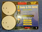 Kidde 442015 Smoke And Fire Alarms Value 2 Pack 916k White Loc-7c
