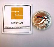 Armenian Silver Coin 1000 Dram 2012 The Treaty On Collective Security