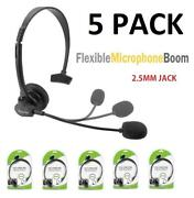 5x Cellet 2.5mm Hands-free Headset With Boom Mic For Home Office Cell Phones