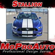 2015-2017 Ford Mustang Lemans Hood Racing Rally Stripes 3m Vinyl Graphics Decals