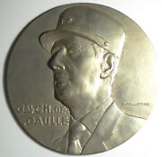 France General De Gaulle Large Galvano Studio Model About 6 Inches By Pelletier
