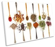 Spices Kitchen Spoons Picture Single Canvas Wall Art Print