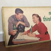 Vintage 7up 1957 Cardboard Sign Antique Interior Collection Misc Hobby