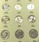 1979-1999 Susan B Anthony Complete 11 Coin P D And S Set