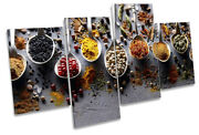 Spoons Of Spices Kitchen Picture Multi Canvas Wall Art Print