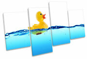 Rubber Duck Water Bathroom Print Multi Canvas Wall Art Picture