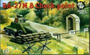 Military Wheels 1/72 Russian Wwii Ba-27m And Checkpoint Plastic Diorama Kit New