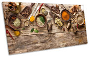 Spices Bowls Wooden Print Panoramic Canvas Wall Art Picture