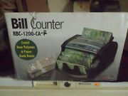 New Royal Sovereign Commercial Electric Bill Counter Rbc-1200-ca-rew 346.95