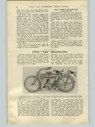 1909 Paper Ad 3 Pg Yale Motorcycle Article Pictures Specs Twin 6.5 Hp