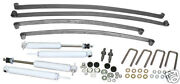 1953-54 Ford F100 Truck Front Rear Mono Leaf Springs, 4.5 Front, 6 Rear