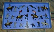 Vintage Lead Johillco John Hill And Co Union And Confederate Soldiers Boxed Set