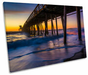 Imperial Beach California Sunset Print Single Canvas Wall Art Picture