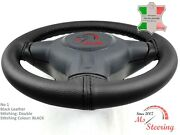 For Saab 900 85-91 Black Leather Steering Wheel Cover Chosen Colours 2 Stit