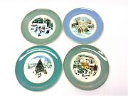 Vintage Set 4 Used Enoch Wedgwood Avon Products Christmas Plate Series Plates