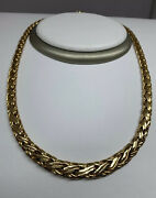 """And Co. Vintage 14ky Gold Russian Weave Braid Necklace 16"""" 32 Grams 585 ❤️"""