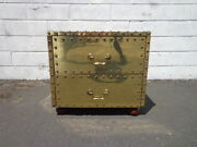 Sarried Style Chest Brass Gold Colored Trunk Storage Vintage Coffee Table Accent