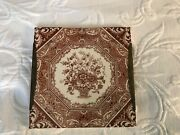 Early 1890s Brown Victorian Wedgwood England Square Tile