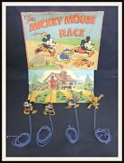 ⭐ Mickey Mouse Race Game - Disney Chad Valley England - 30and039s - Disneyana.it ⭐