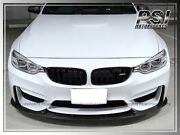 3d Style Carbon Finer Front Bumper Add-on Lip For 2015+ Bmw F82 M4 2015 F80 M3