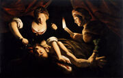Oil Painting Trophime Bigot - Judith Cutting Off The Head Of Holofernes Canvas