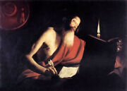 Oil Painting Trophime Bigot - St Jerome Writing Under The Candle Free Shipping