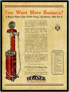 1922 Bowser Gas Pumps New Metal Sign Fort Wayne Indiana - Chief Sentry Pic