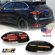 Facelift Style Full Led Gts Cherry Red Rear Tail Light For 2011-14 Cayenne 958