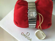 Diamond And Mother Of Pearl Omega Constellation Quadra Stainless Steel Watch