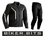 Rst Axis 2021 Black/white Ce Menand039s Leather Budget Jacket And Trousers 2pc Set