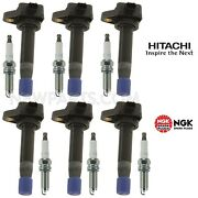 New Direct Ignition Coils And 6 Ngk Spark Plugs Kit For Honda Accord Acura Tl V6