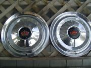Two 1954 Chrysler Imperial 300 Hubcaps Wheel Covers Center Caps Antique Vintage
