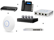 New Business Phone Bundle- Phones+cameras+wifi+switches- W/ 1 Year Voip Service