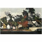 Alfred Chadbourn Impressionist Oil Painting Yarmouth Village Maine