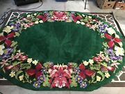 Vintage Giant Shillcraft Oval Rug Atomic 50s 60s 70s Mcm Mid Century