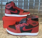 Nike Air Jordan 1 High Andlsquo85 Varsity Red Reverse Bred Size 9.5 2-day Shipping