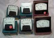 Lot Of 6 Precision Panel Ac Voltage And Current Meters
