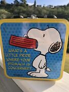 Rare, Vintage Metal Snoopy Lunch Box