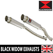 Zzr 1400 Zx14 Ninja 2008-2011 4-2 Exhaust Silencers Round Gp Stainless Sg35r