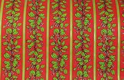 Vtg Christmas 50's Mistletoe Green Red Dept Store Wrapping Paper Roll 36 Wide