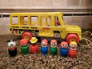 Fisher Price School Bus 192 Little People Vintage Toy Complete Works Great