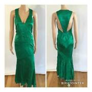 Gianni Versace Vintage Sexy Plunging Open Back Gown Size 42