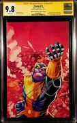 Thanos 13 Cgc Ss 9.8 Donny Cates Cosmic Ghost Rider Silver Surfer Black Endgame