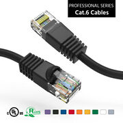 100 Pack Lot 1'ft Cat6 Ethernet Network Lan Router Patch Cable Cord Wire Color