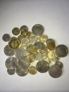 Lot Of 52 1 And .25 Casino Tokens/coins - Lv Austria Tampa Mo Ill - Used