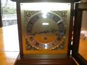Seth Thomas Vintage Mantle Shelf Clock With Angels In The Corners