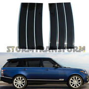 For 2013-2021 Range Rover L405 Fender Air Side Vents Black With Chrome Accents