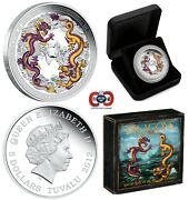Dragons Of Legend Special Edition 2012 Tuvalu 5 Pure 5 Oz Silver Coin Perfect